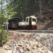 赤沢自然休養林のディーゼル機関車